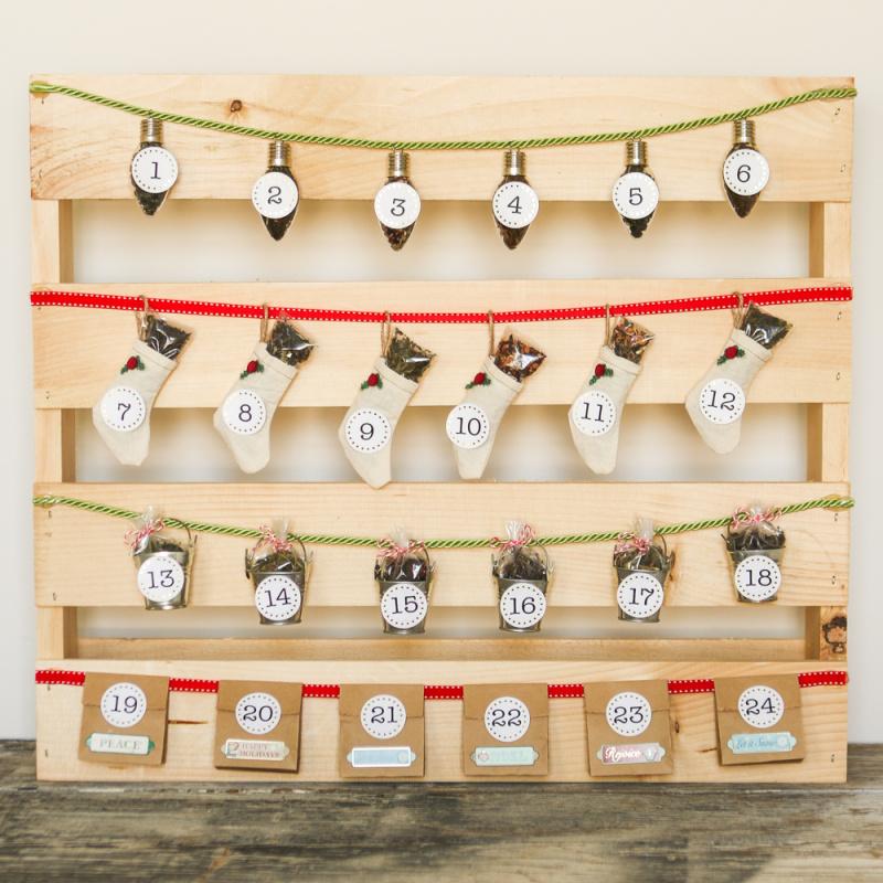 Adventní kalendář se sypaným čajem