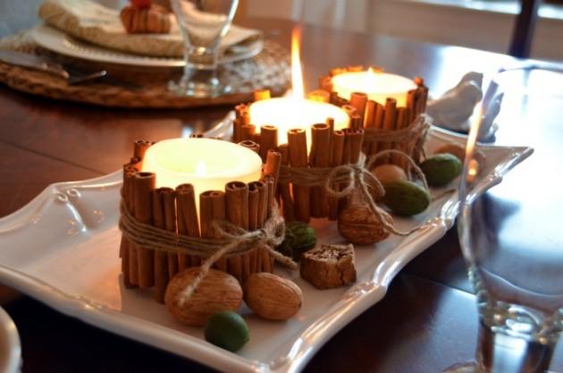 15 nápadů na majestátní vánoční svíčky