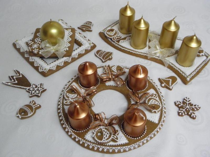 Adventní perníkové věnce na stůl