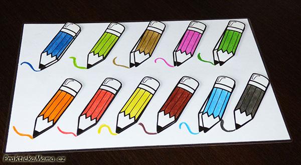 Procvičování barviček – tužky