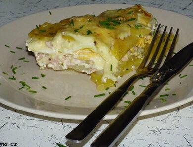 Zapečené brambory s vajíčkem