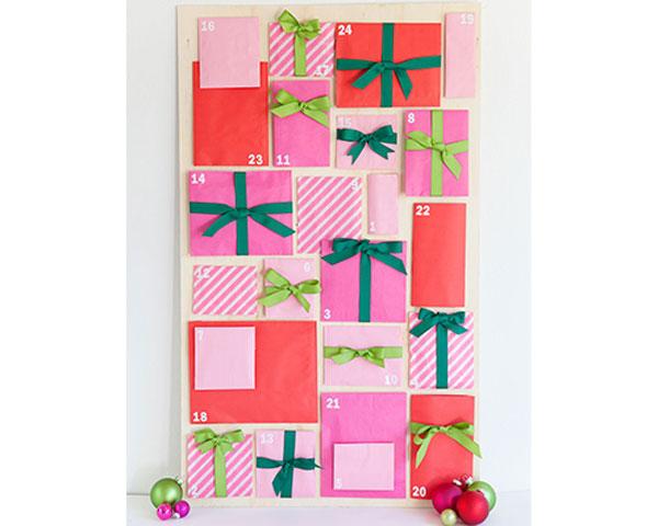 Adventní kalendář z papírových pytlíčků