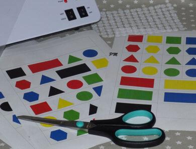 Geometrické tvary – přiřazování podle předlohy