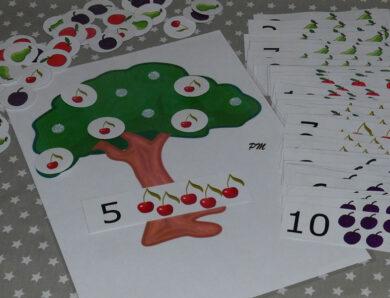 Počítání – strom s ovocem