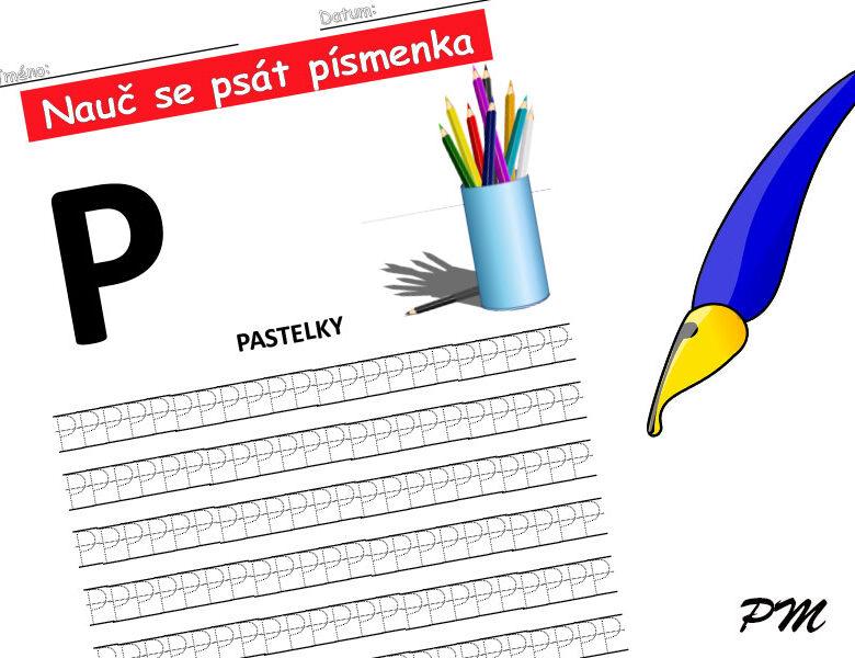 Učíme se psát písmenka – P