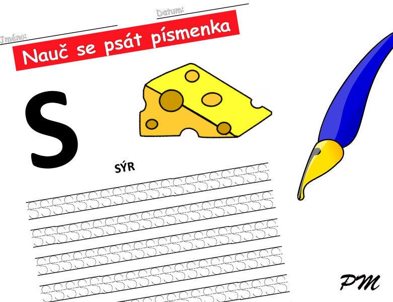 Učíme se psát písmenka – S