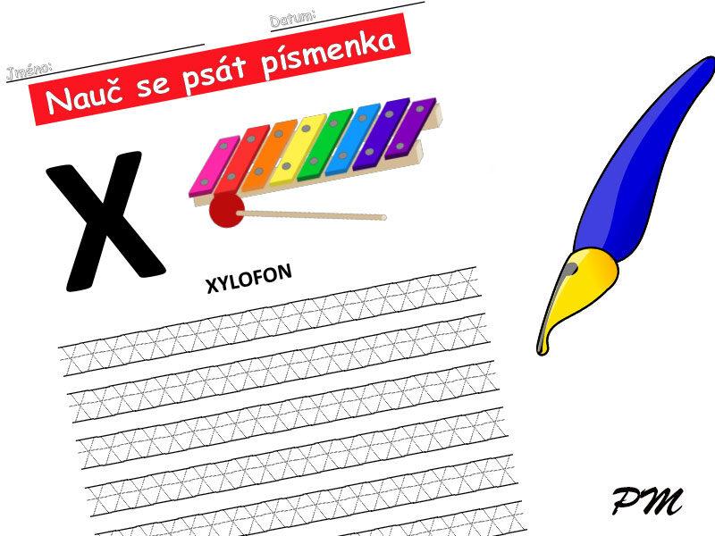 Učíme se psát písmenka – X