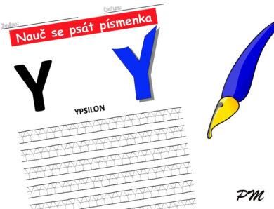 Učíme se psát písmenka – Y