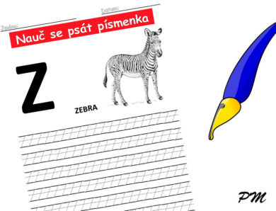 Učíme se psát písmenka – Z