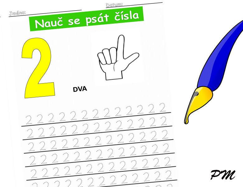 Učíme se psát číslovky – 2