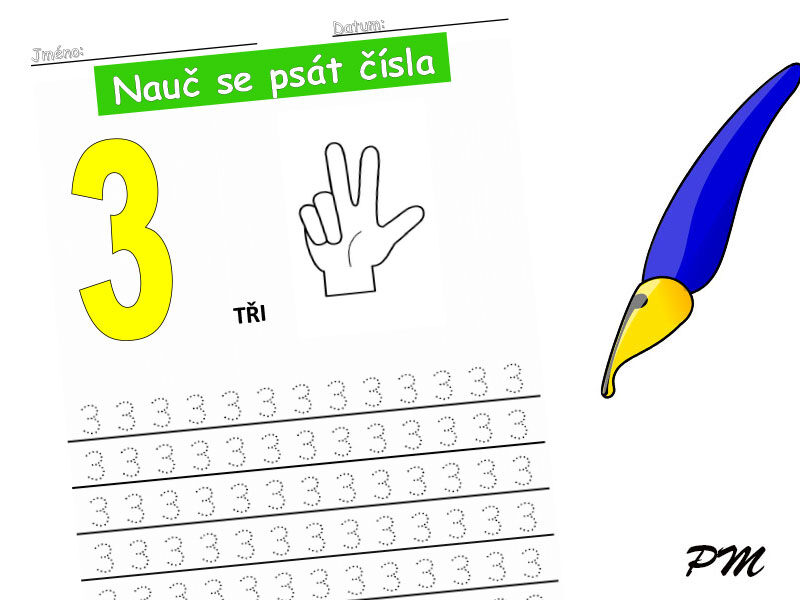 Učíme se psát číslovky – 3