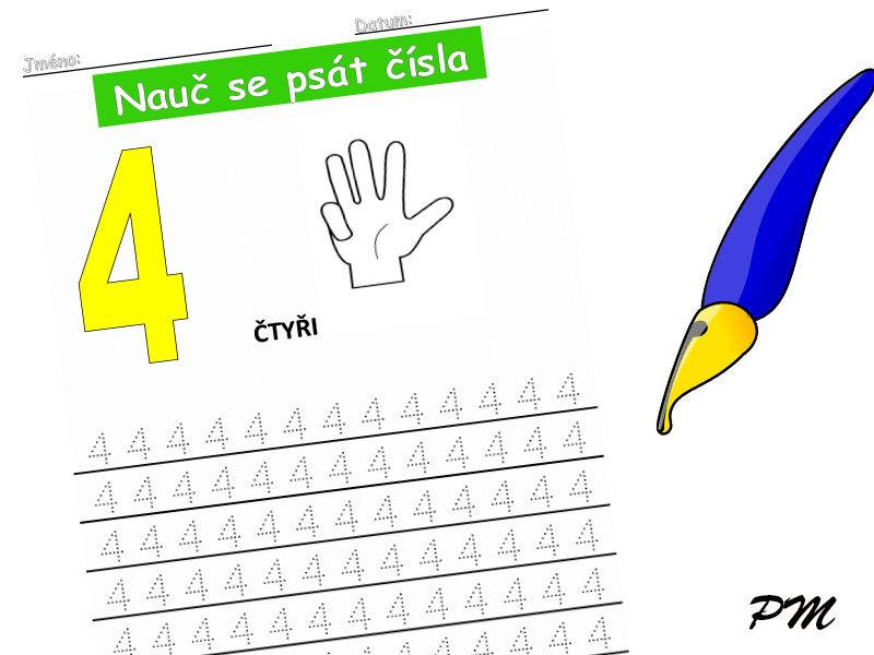 Učíme se psát číslovky – 4