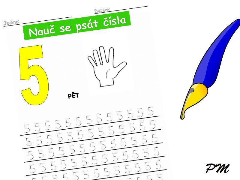Učíme se psát číslovky – 5