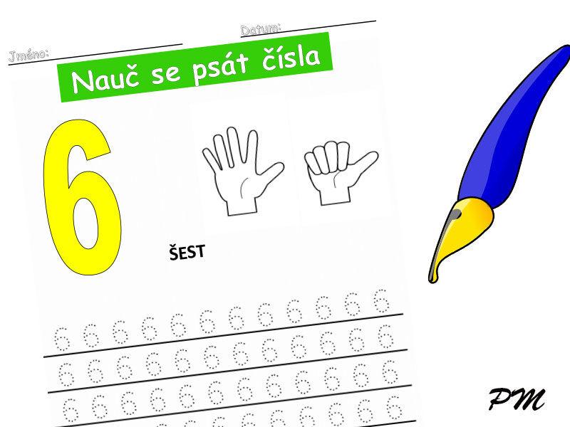Učíme se psát číslovky – 6