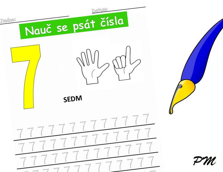 Učíme se psát číslovky – 7