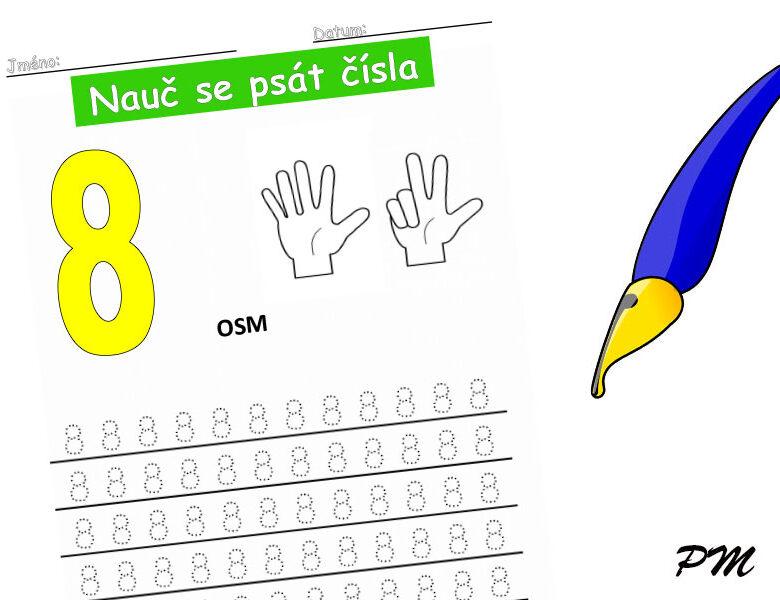 Učíme se psát číslovky – 8