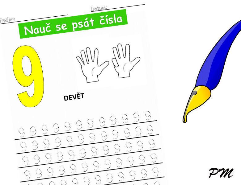 Učíme se psát číslovky – 9